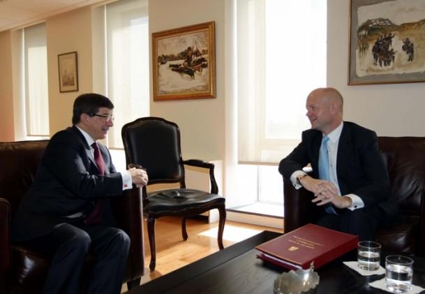 Hague Meets Foreign Minister Davutoğlu