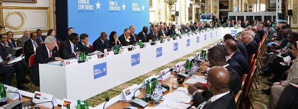Foreign Minister Davutoğlu attends the Somalia Conference held in London