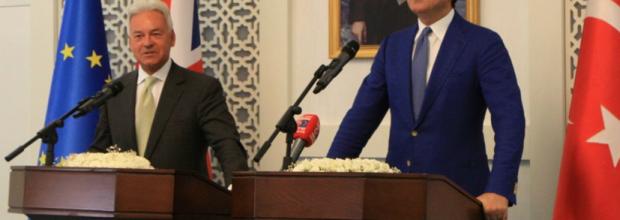 Minister for Europe Sir Alan Duncan in Ankara