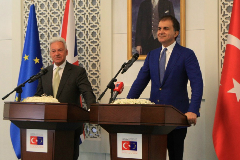 Minister for Europe Sir Alan Duncan in Ankara