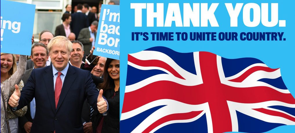 Congratulations Boris Johnson for returning to Downing St with a majority of 80 seats