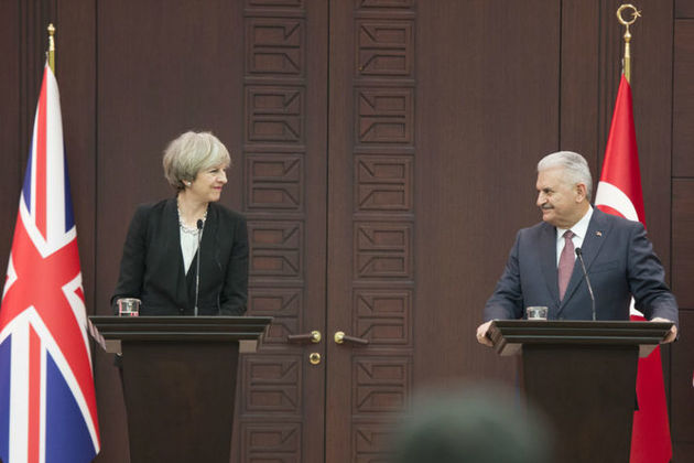 "PM Theresa May in Ankara: ""The relationship between Turkey and the United Kingdom has always been important, but it is arguably even more vital today."""