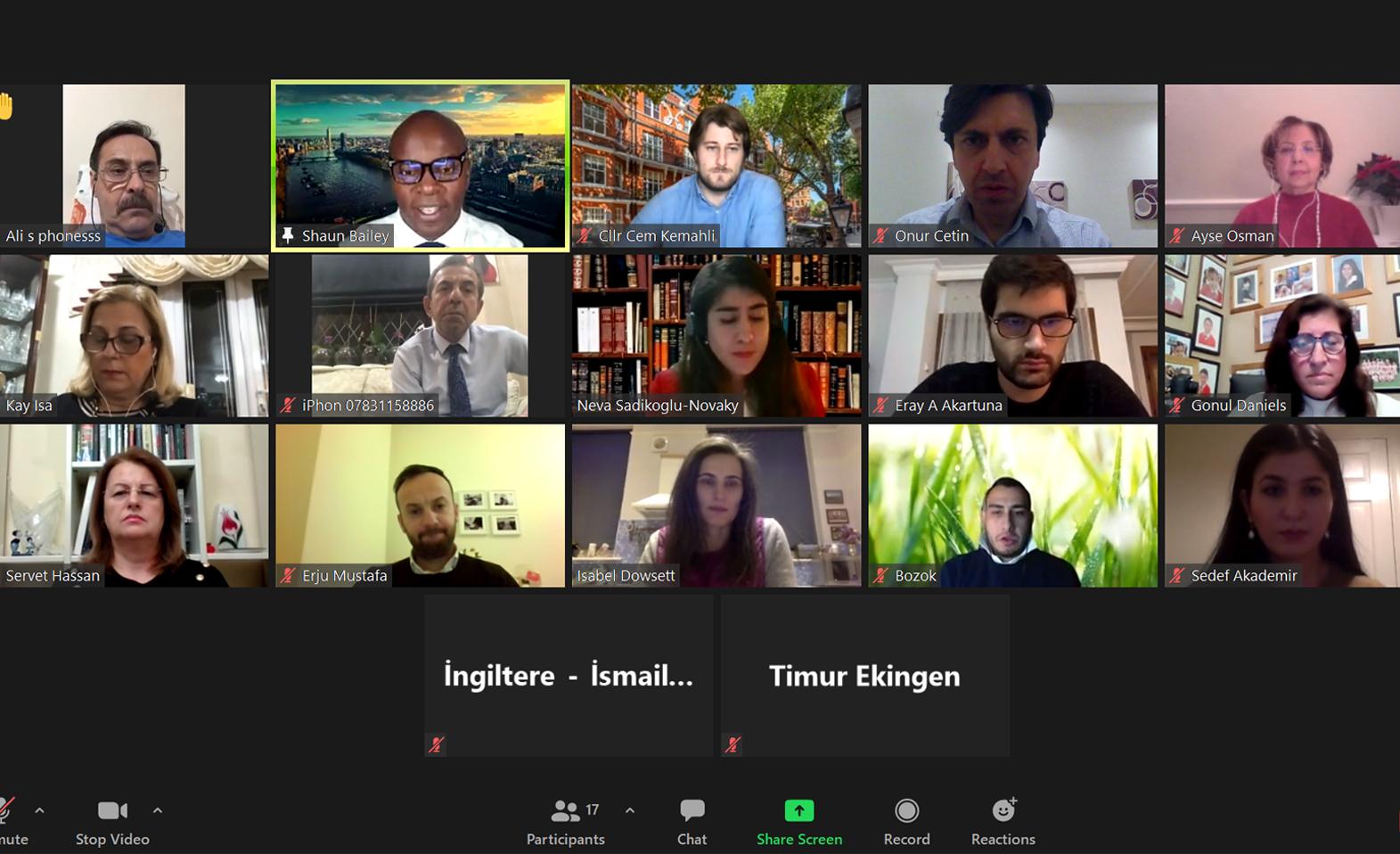 Shaun Bailey meets Turkish community in virtual roundtable